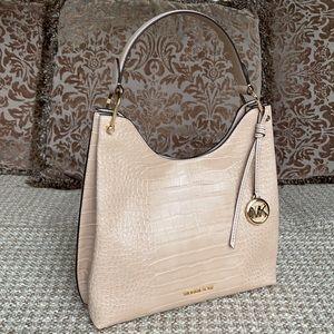 Michael Kors Joan Lg Slouchy Shoulder Bag Buff